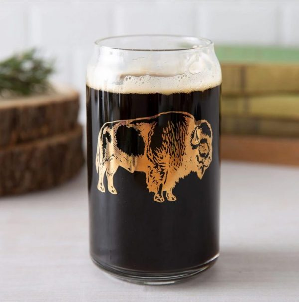 Bison Beer Glass by Counter Couture