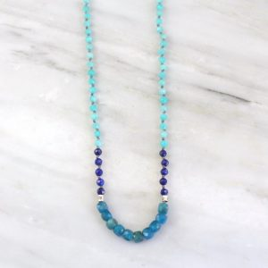 Mediterranean Knotted Necklace Sarah Deangelo