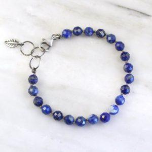 Lapis Knotted Bracelet Sarah Deangelo
