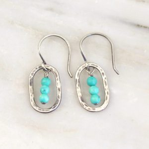 Stacked Turquoise Mini Hoop Earrings Sarah Deangelo