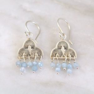 After the Rain Aquamarine Earrings Sarah Deangelo