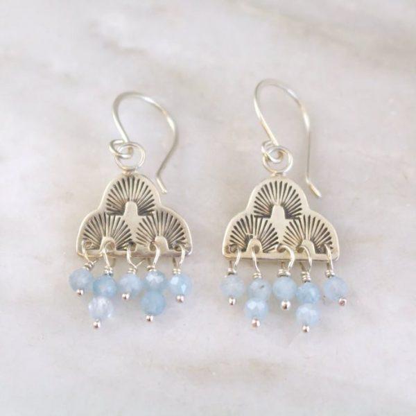 After the Rain Aquamarine Earrings Sarah Deangelo