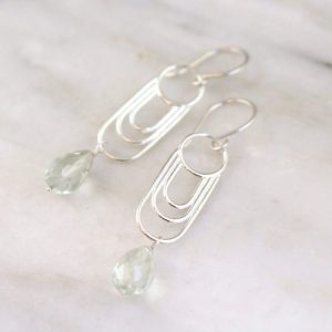 Reflections Green Amethyst Drop Earrings Sarah Deangelo