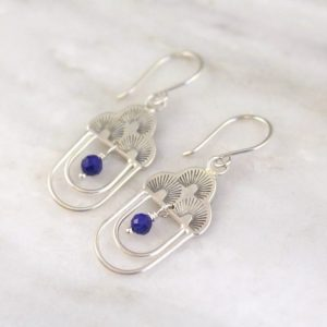 After the Rain Lapis Dangle Earrings Sarah Deangelo