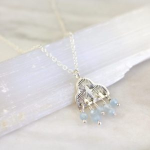 After the Rain Aquamarine Necklace Sarah Deangelo