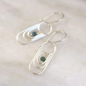 Reflection Blue Tourmaline Dangle Earrings Sarah Deangelo