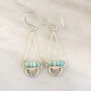 Wanderer Triangle Amazonite Earrings Sarah Deangelo