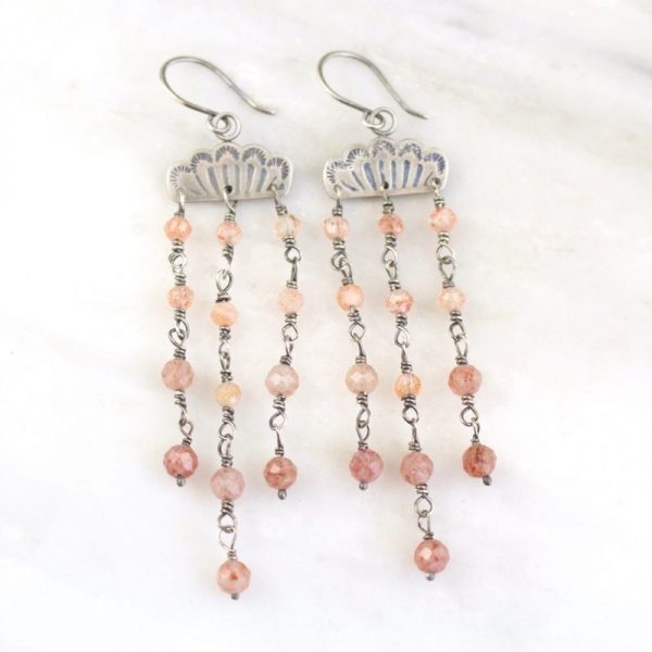 Southwest Lace Waterfall Earrings - Sunstone Sarah Deangelo