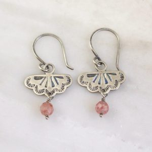Southwest Lace Strawberry Quartz Dangle Earrings Sarah Deangelo