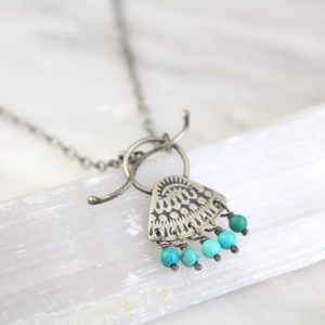 Asmi Turquoise Toggle Necklace Sarah Deangelo