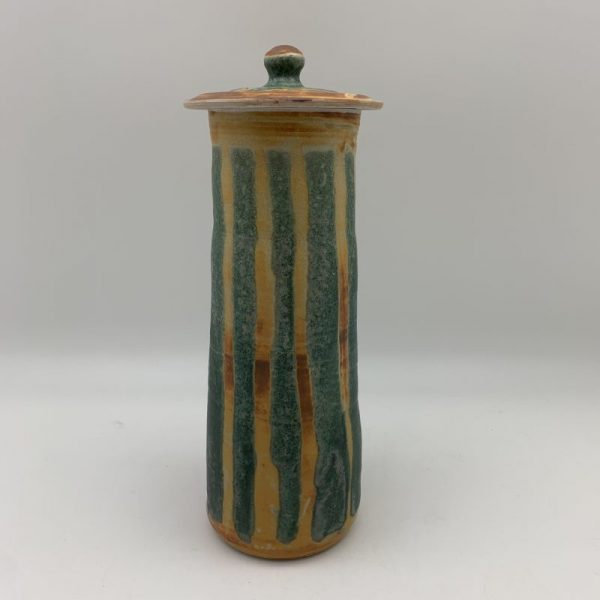 Striped Porcelain Spaghetti Jar by Margo Brown