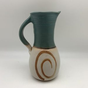 Porcelain Swirl Pitcher by Margo Brown