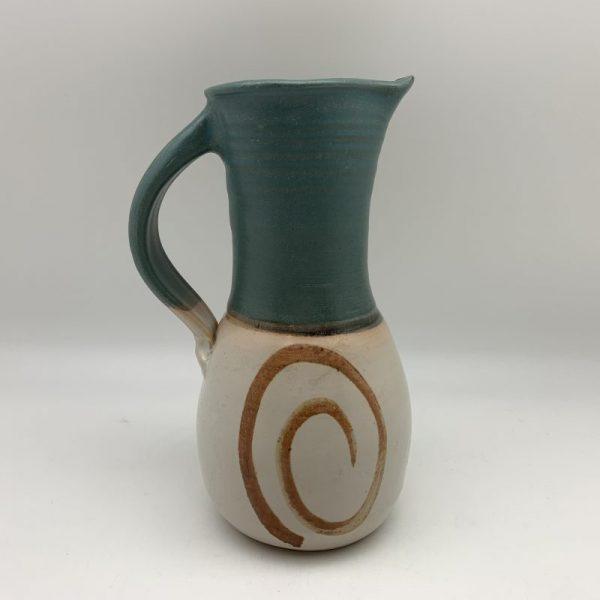Porcelain Swirl Pitcher by Margo Brown