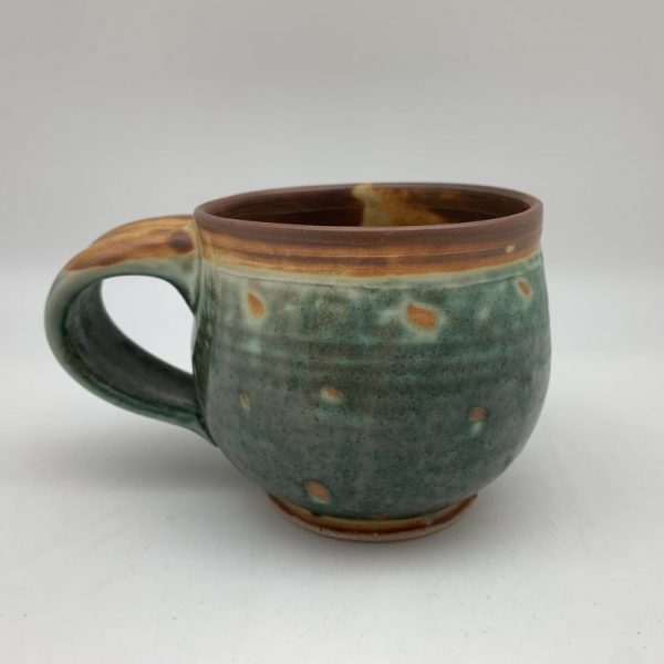 Green Dotted Mug by Margo Brown