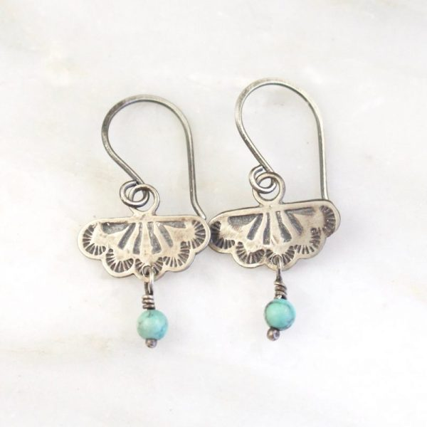 Southwest Lace Turquoise Dangle Earrings Sarah Deangelo