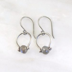 Labradorite La Cloche Earrings Sarah Deangelo