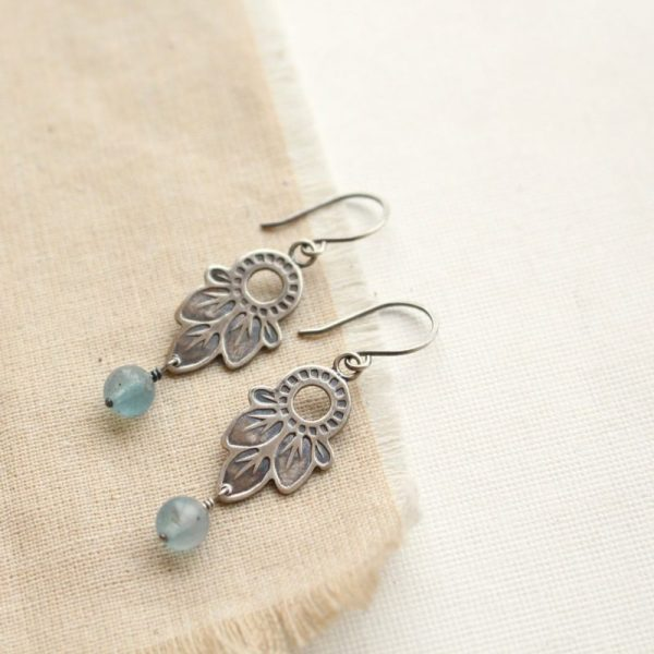 Hishi Moss Aquamarine Earrings Sarah Deangelo