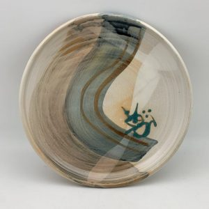 Decorated Porcelain Plate by Margo Brown