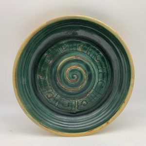 Swirl-Deisgn Pie Plate by Margo Brown