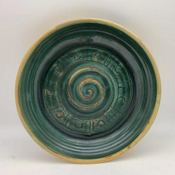 Swirl-Deisgn Pie Plate by Margo Brown