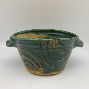 Green-Handled Porcelain Dish by Margo Brown