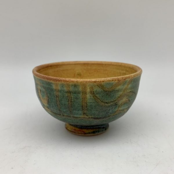 Tiny Green and Yellow Bowl by Margo Brown