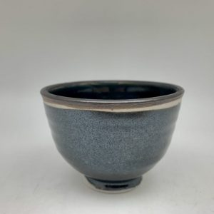 Tiny Black Porcelain Bowl by Margo Brown