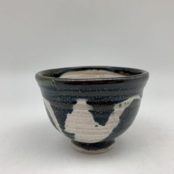 Blue and Cream Mini Porcelain Bowl by Margo Brown