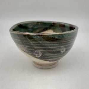 Eye-Shaped Mini Porcelain Bowl by Margo Brown
