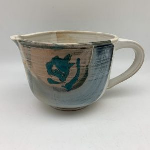 Decorated Porcelain Pitcher by Margo Brown