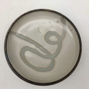 Small Lipped Porcelain Plate by Margo Brown
