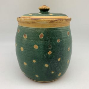 Polka Dot Cookie Jar by Margo Brown