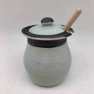 Celadon Honey Pot by Margo Brown