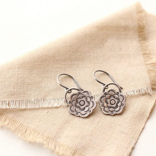 Cactus Flower Bloom Earrings Sarah Deangelo