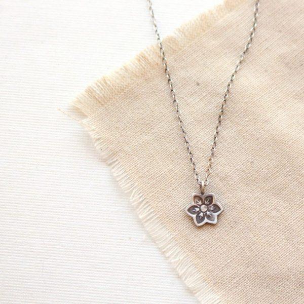 Moonflower Charm Necklace Sarah Deangelo