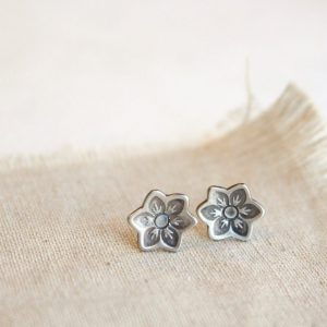 Moonflower Post Earrings Sarah Deangelo