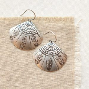Tribal Feather Fan Earrings Sarah Deangelo