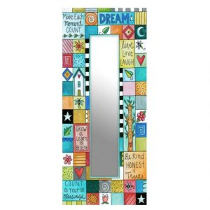 Playful Patchwork Mirror by Sincerely Sticks