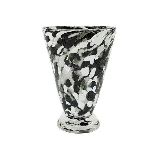 Speckle Cup - Black and White Kingston Glass Studio