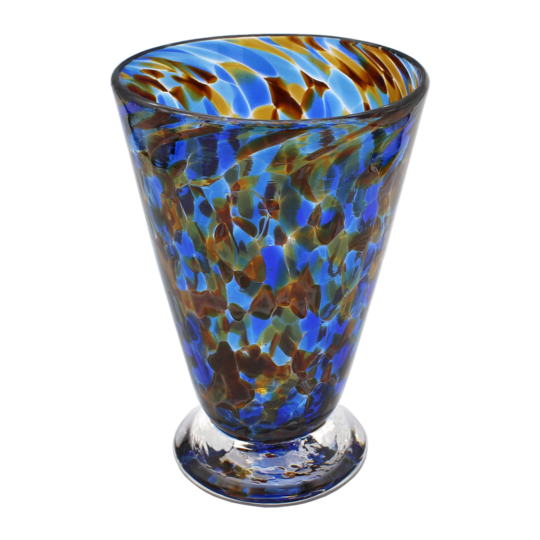 Speckle Cup - Blue and Amber Kingston Glass Studio