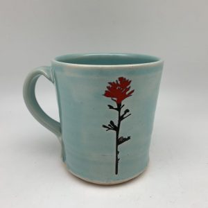 Morning Teal Indian Paintbrush Mug Stephen Mullins Red Bison Studio