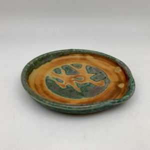 Green and Brown Spoon Rest by Margo Brown - 2141