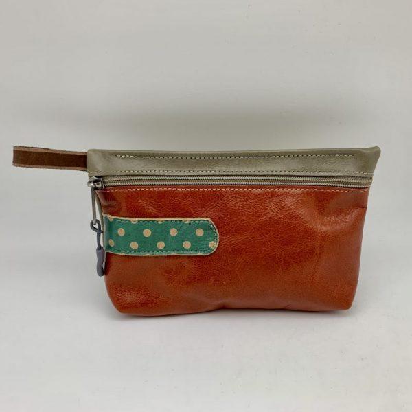 Everyday Stash Bag - Brown/Dot Traci Jo Designs