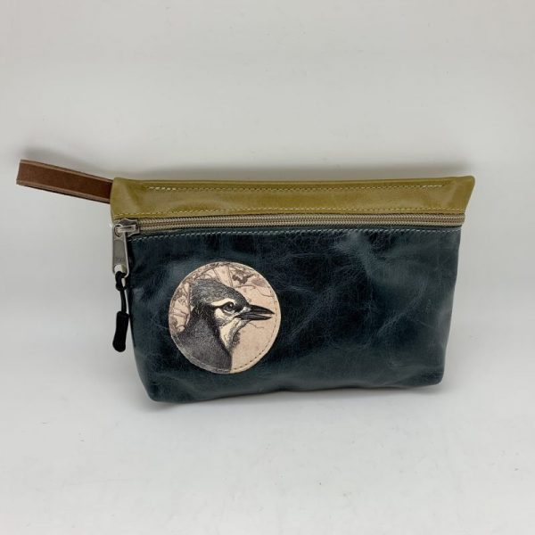 Everyday Stash Bag - Navy/Bird By Tracy Jo Designs