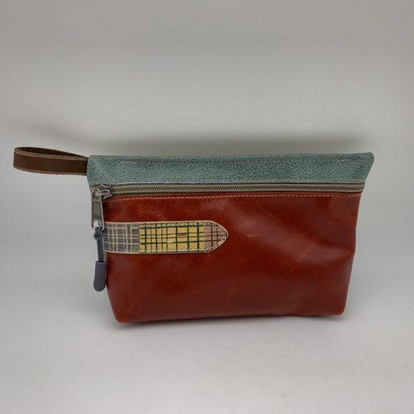 Everyday Stash Bag - Brown/Blue Traci Jo Designs