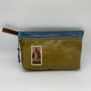 Everyday Stash Bag - Olive/Vintage Graphic Traci Jo Designs