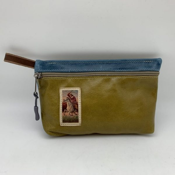 Everyday Stash Bag - Olive/Vintage Graphic Traci Jo Designs