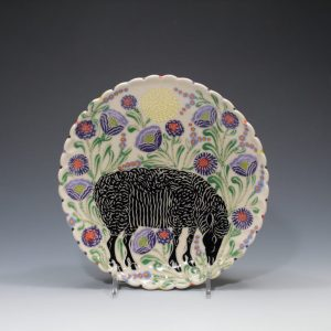 Black Sheep Lunch Plate Sue Tirrell