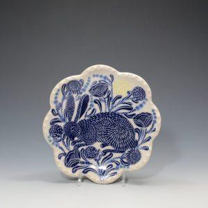 Blue Rabbit Petal Plate Sue Tirrell