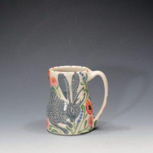 Grey Jackalope Mug Sue Tirrell